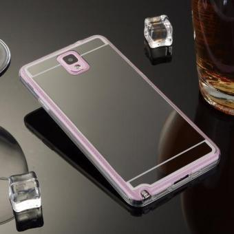 Luxury Plated Mirror Phone Cover Case for Samsung Galaxy Note3(Black) - intl