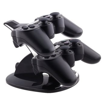 LYBALL Dual USB Charger Dock Station Stand Charging for SonyPlaystation PS3 Controller