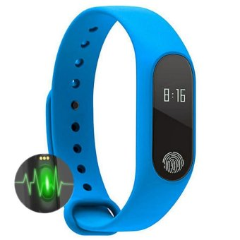 M2 Smart Wristband Bracelet Heart Rate Pulse Meter IP67 WaterproofCall Reminder Pedometer Fitness Sleep Tracker iOS PK Mi Band - intl Price Philippines