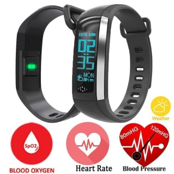 M2S Smart Band Heart Rate Blood Pressure Oxygen Oximeter Sport Bracelet Fitness Watch Smartband Pulse for iOS Android (Black) - intl