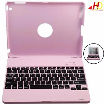 M3 Wireless Bluetooth Keyboard Case for iPad 2/3/4 (Pink)