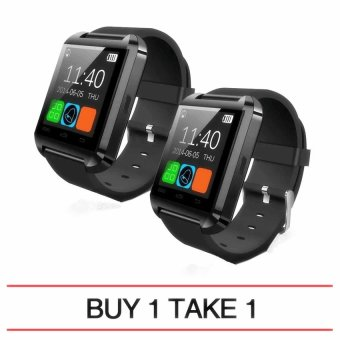 M8 Bluetooth Smart Watch (Black) Buy 1 Take 1