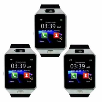 M9 Intelligent Phone Quad Smart Watch with Sim Card Slot (Silver)Set Of 3