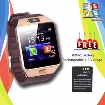M9 Phone Quad Smart Watch (Gold) with FREE Battery