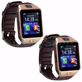 M9 Phone Quad Smart Watch (Gold/Brown) BUY ONE TAKE ONE