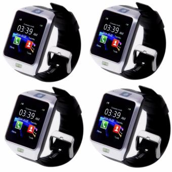 M9 Phone Quad Smart Watch Set of 4 (Silver)