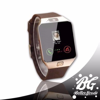 M99 Quad Bluetooth Touch Screen Smart Watch (Gold/Brown)