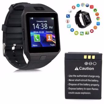 M99 Quad Phone Bluetooth Touch Screen Smart Watch (Black) with Extra Battery