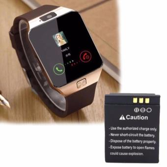 M99 Quad Phone Bluetooth Touch Screen Smart Watch (Gold/Brown) With Extra Battery