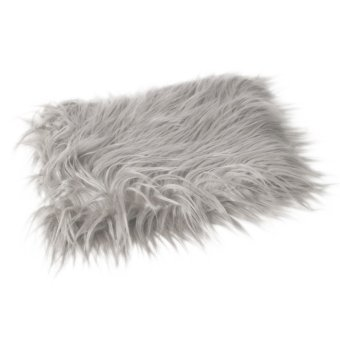 MagiDeal Baby Newborn Fur Photography Photo Props Blanket rugBackground Light Gray - intl