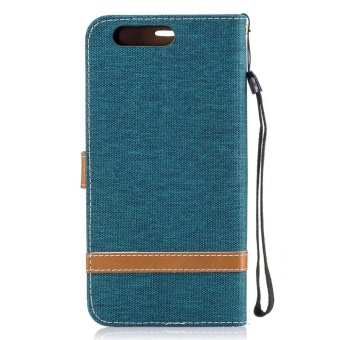 Magnetic Flip Canvas PU Leather Luxury Wallet Case for Huawei P10Plus Phone Cover Coque (Navy Blue) - intl - 3
