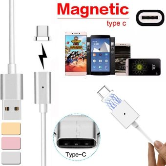 Magnetic USB Charger Cord Sync Data Cable Type-C For Android Silver- intl