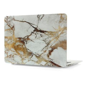 Marbling Protective Case For Apple Mac-book 13.3 Inch Air(Gold/Grey) - Intl