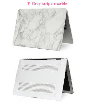 Marbling Protective Tablet Case For Apple Mac-book 11.6 Inch Air(white-gold) - Intl - 2