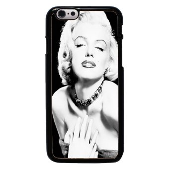 Marilyn Monroe Pattern Phone Case For iPhone 6/6s (Black)