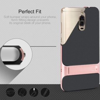 Mate 9 Pro ,MOONCASE Dual Layer Hybrid Anti-Scratch TPU +PC Bumper Frame Kickstand Protective Case Cover for Huawei Mate 9 Pro Black - 3