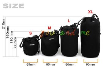 MATIN extra-large medium and small protective case lens bag