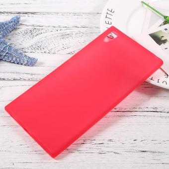 Matte Skin Soft TPU Mobile Shell for Sony Xperia XA1 Ultra - Red -intl