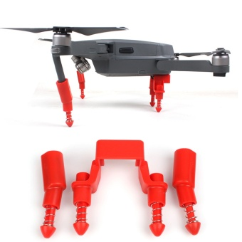 Mavic Pro Landing Skid Heightened Shock-absorbing Landing GearStabilizers Leg Gimbal Protector for DJI MAVIC PRO -Red - intl
