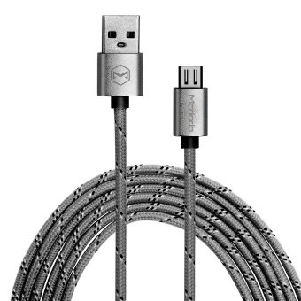 Mcdodo Reversible Woven Fabric Data Cable Micro USB Cable Micro USBto USB AM Charge Data Sync Cable MCA-1140/GY-1.5 (Grey) Price Philippines