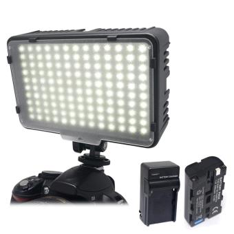 Mcoplus 130 LED Video Light Lighting for Canon Nikon Sony Panasonic& DV Camera Comcorder+NP-F750 Battery+Charger VS CN-126 - intl