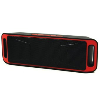 Megabass SC208 A2DP Bluetooth Wireless Stereo Speaker (Red)