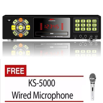 Megapro MP-2000 PRO DVD Karaoke Player (Black) with Free KS-5000Microphone Price Philippines