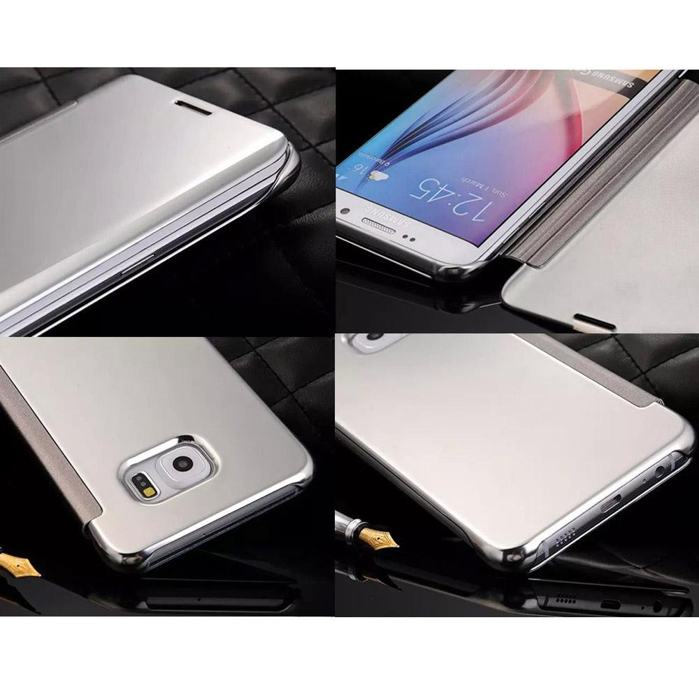 ... Meishengkai Case For Samsung Galaxy S6 Edge Plus FlipSpecular Mirror Protective Cover Case with Smart Sleep ...