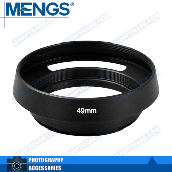 Mengs 49mm aluminum bayonet Lens Hood for Leica camera