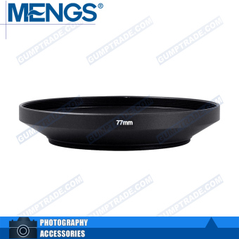 Mengs 77mm aluminum Wide Angle Lens Hood for camera