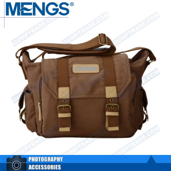 Mengs F1 sling canvas shoulder bag for Canon Nikon-brown