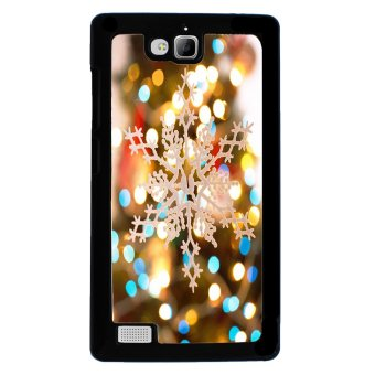 Merry Christmas Pattern Phone Case for Huawei Honor 3C (Black)