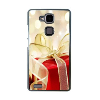 Merry Christmas Pattern Phone Case for Huawei Mate 7 (Black)