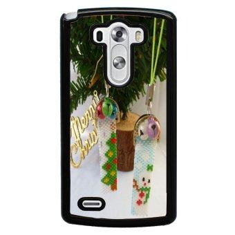Merry Christmas Pattern Phone Case for LG G3 (Black)