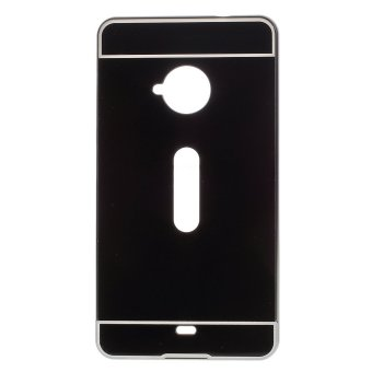 Metal Bumper + Acrylic Back Shell Case for Microsoft Lumia 535/535 Dual SIM (Black) - intl