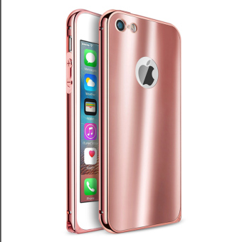 Metal Bumper Case w/ Acrylic Bling Cover for Apple iPhone 5S / SE /5 (Rose Gold)