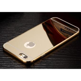 Metal Bumper for iPhone 6/6s (Gold) With Front and Back GlassScreen (Gold) - 2