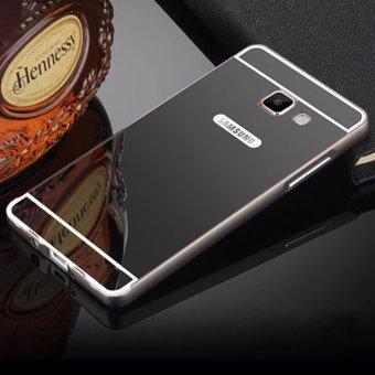 Metal Bumper Mirror Case for Samsung J7 Prime (Black)