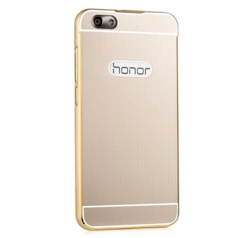 Metal Frame Back Case for Huawei Honor 4X (Gold)