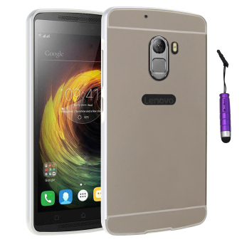 Metal Frame Bumper Case PC Back Cover for Lenovo K4 Note A7010 (Silver)