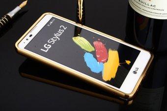 Metal Frame Mirror Back Cover Case For LG Stylus2 Plus (Gold) -intl - 3