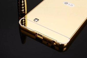 Metal Frame Mirror Back Cover Case For LG Stylus2 Plus (Gold) -intl - 5