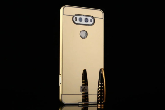 Metal Frame Mirror Back Cover Case For LG V20 (Gold) - intl