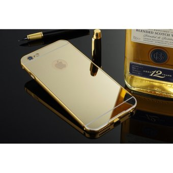 Metal mirror border Back Case Cover For Apple iPhone 5 / 5s (gold) - intl