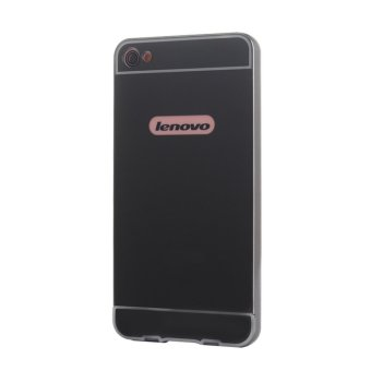 Metal mirror border Back Case Cover For Lenovo S60 (black) - intl