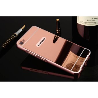 Metal mirror border Back Case Cover For Lenovo S60 (rose gold) - intl
