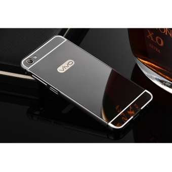 Metal mirror border Back Case Cover For Vivo Y55 / Y55A (black) - intl