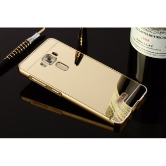 Metal mirror border Back Cover case For A sus Zenfone 3 5.2 (gold)- intl