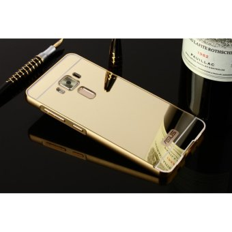 Metal mirror border Back Cover case For A sus Zenfone 3 5.5 (gold) - intl