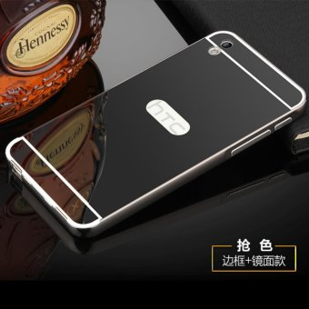 Metal mirror border Back Cover case For H TC Desire 816 (black) -intl